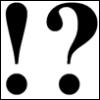 faintdreams: Exclamation Mark. Question Mark. (! ?)