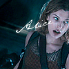 strina: resident evil alice captioned with her name (alice)