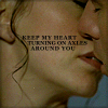 "strina: john/aeryn caption ""keep my heart turning on axles around you"" (john/aeryn - axles)"