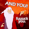 alificent: Saruman hates you all. (FUCK YOU)