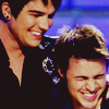 rosiewinter: Adam and Kris grinning (You laughed at what I said)