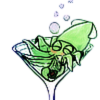 architeuthis: drunk squid in martini glass (I'm not an alcoholic)