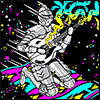 helenic: WHAT (psychedelic space knight)