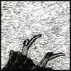 lizbee: Black and white Edward Gorey illustration a person falling from a high place. Only their black robes and shoes are visib (Books: The Sirens Sang of Murder)