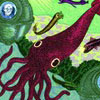 lizbee: A simple painting of a maroon squid (Random: SQUID!!!)