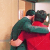 kisahawklin: Shawn/Lassiter hugs! (Psych: shawn/lassiter backs)