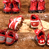 sinquepida: softball cleats left on home plate (all on the field)