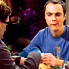 ext_3663: picture of sheldon cooper from the big bang theory sitting down and staring at leonard with a smug/gauging look (sga | oh john)