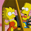 bossymarmalade: lisa and bart liberate cows (lemonade and sausage links)