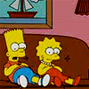 bossymarmalade: bart and lisa watch tv (shows are more interesting this way)