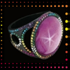 skywardprodigal: titanium, star ruby, and rainbow diamond ring (bling-sap asterical)