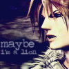 """evenfall: Squall Leonhart from Final Fantasy VIII with the text """"maybe i'm a lion"""" (squall - maybe i'm a lion)"""