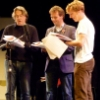 sarahkbee: Picture of a recording of the third series of Cabin Pressure (Benedict Cumberbatch)