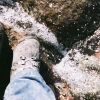 naturedance: my foot, in my boot, on Mount Rainier (self-portrait)