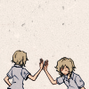 sincere: TWEWY: Joshua high-fives Another Joshua (self-five! ;;)