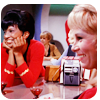 originalpuck: Uhura and Rand are Smiling (uhura and rand)
