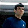 pantswarrior: Spock (Quinto version) stands on the bridge of the Enterprise. (reboot!spock)
