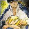 baroqueangel: ([FMA] Roy with sleeping Ed)