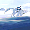 januar: from The Legend of Korra: Korra riding Naga at the south pole ([korra] korra & naga)