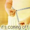 """orbitaldiamonds: measuring the waist, text: """"it's coming off"""" ([ text ] it's coming off)"""