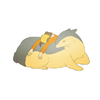 ducttaped: Ethan from Pokemon slumped over a typhlosion (party hard)