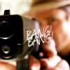 nemonclature: Raylan pointing a gun at the camera, text: bang bang (Raylan gun)