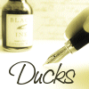 ducksfanfic: Me Writin' Icon, Lassies and Laddies! (Ducks is a writer! OMGZ!)