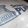 healingmirth: stanley cup 2012 logo under ice surface (playoffs, stanley cup)