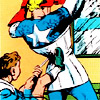 muccamukk: Bucky tightening Captain America's stays. (Marvel: For Beauty's Sake)