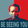 xenacryst: Patrick McGoohan as the Prisoner, Obama-art style (Be seeing you!)