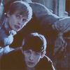 flyingthesky: Merlin and Arthur (BBC Merlin) peering around a corner. (merlin: dorkbutts storming the castle)