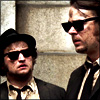 eleanorjane: Jake and Elwood Blues, mourning the car's demise. (requiem)