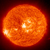 lo_rez: fiery solar image by NASA (Solar fireball)