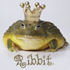 "goseaward: Frog wearing crown with text ""Ribbit"" (Default)"