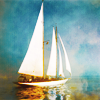 feather_ghyll: Boat with white sail on water (Sailboat adventure)