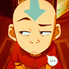 gloss: the avatar is unconvinced (Aang fed up)