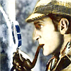 laughingrat: Appears to be Basil Rathbone as Holmes. (Sherlock Holmes)