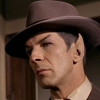 """clancy_s: TOS Spock wearing a fedora hat, from """"Piece of the Action"""" (SpockFedora)"""