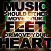 "radioline: A text icon reading, ""Music should either move your feet or move your heart."" (it should do both, and ideally) (Default)"