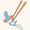 digitalized: (Pokemon ♪ Chopsticks Mudkip)
