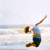 alchemy: Finn Jones leaping on the beach ([celebs] Living in a rhythm.)