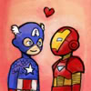 ealgylden: (Iron Man and Cap in love)