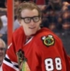 quiet000001: Patrick Kane from the Chicago Blackhawks wearing Clark Kent glasses from the All Stars competition (Default)