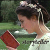 jennaria: Sarah from Labyrinth, reading a book, captioned Storyteller (Storyteller)