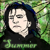 chazpure: snape with green leaves in background (snape - summer)