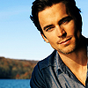 bookblather: Matt Bomer in an open grey shirt against a landscape. (Jackson Hennessy : Matt Bomer)