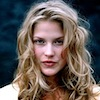 bookblather: Ali Larter with messy hair staring intensely at the camera. (in the heart : yvonne : ali larter)