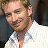 bookblather: David Wenham with a bear smiling at the camera. (in the heart : gary : david wenham)