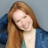 bookblather: Molly Quinn with her hand behind her head, smiling at the camera. (in the heart : leah : molly quinn)