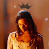 januar: from BBC Merlin: Guinevere looking down with the image of a crown above her head ([merlin] guinevere)